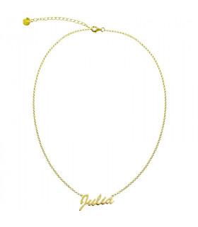 Gargantilla nombre Julia dorado