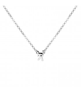 Letter R necklace in silver