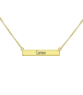 Golden rectangle necklace carmen