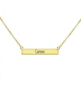 Collar rectángulo dorado carmen