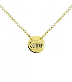 Gold name medal choker
