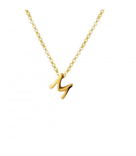 Initial letter M necklace