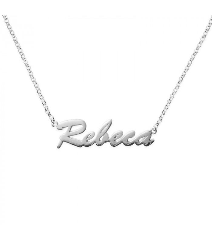 Collar nombre personalizado en plata