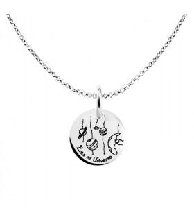 Universe pendant in silver