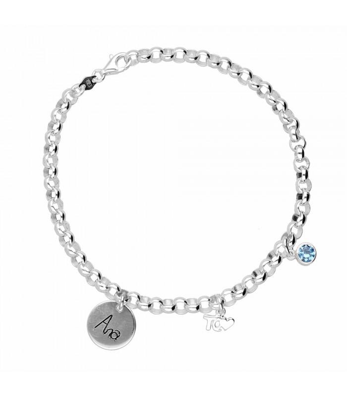 Personalized tq heart bracelet