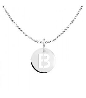 Letter B medal pendant
