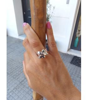 Silver jasmine rings