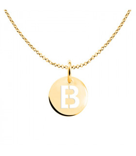 Initial medal necklace B