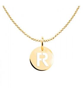 Gargantilla letra R dorada