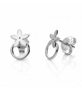 Silver jasmine earring