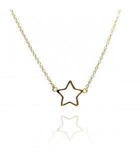 Collar estrella de oro