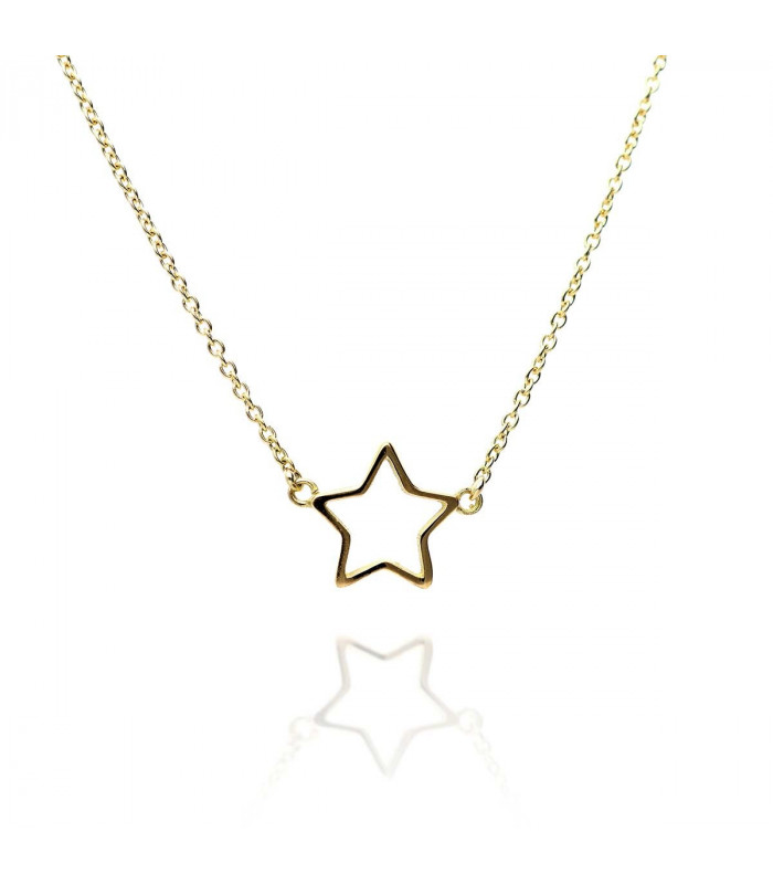 Gold Profile Star Necklace