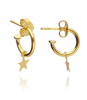 Hoops earrings with star