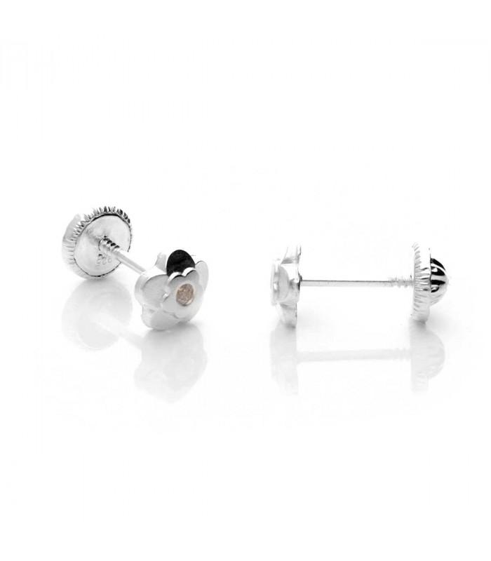 Flower Earrings with Zirconia
