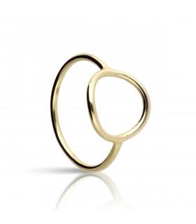 Diabolo ring in gold