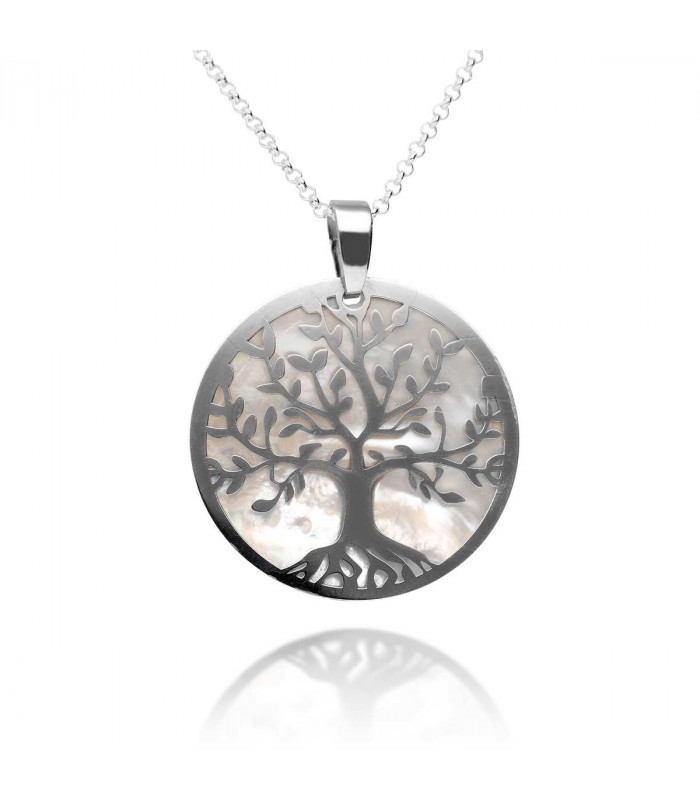 Nacre Tree of Life Pendant