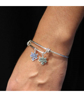 Name bracelet with puzzle