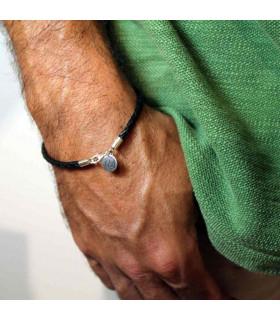 Custom leather bracelet man