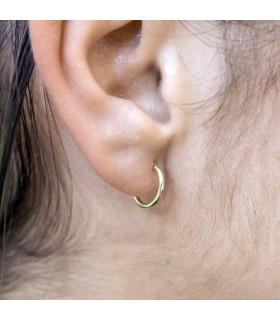 Glued gold hoop earrings