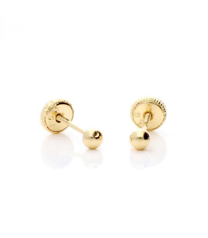 Gold baby earring
