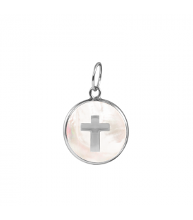 Cross nacre pendant