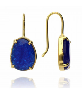 Sweet golden chalcedony earrings