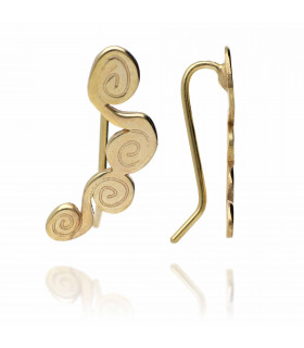 Golden circles earrings