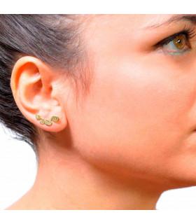 Golden circles earring