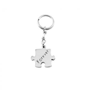 LLavero personalizado puzzle en plata de ley