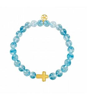 Electro cross stone Bracelet