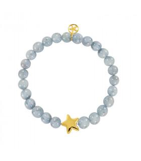 Electro natural stone star bracelet