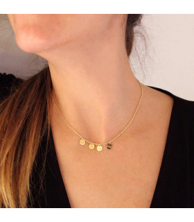 Gold plated silver personalized necklace and medals