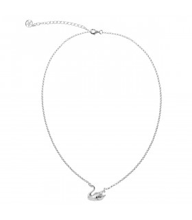 Swan silver necklace