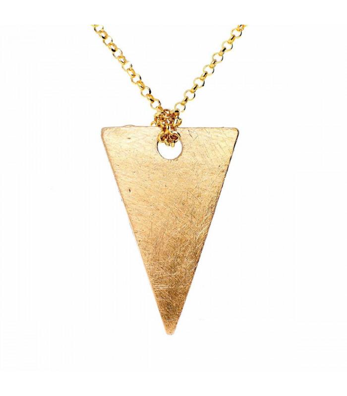 Colgante triángulo dorado