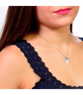Gargantilla triángulo de plata