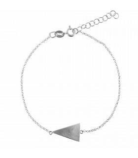 Pulsera triángulo de plata