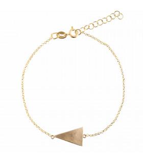 Pulsera triángulo dorada