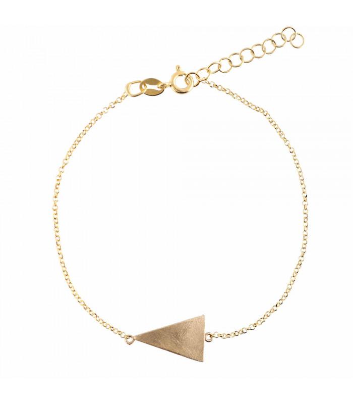 Golden triangle bracelet