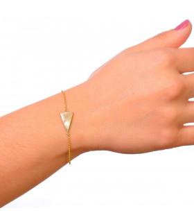Oferta en pulsera triángulos doradas