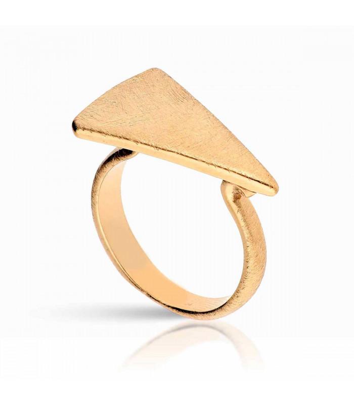 Anillo triángulo dorado