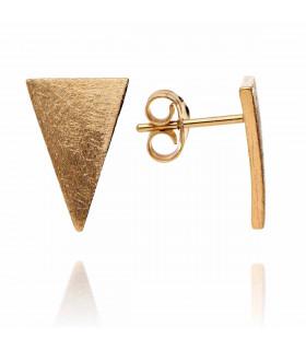 Pendiente triángulos dorados
