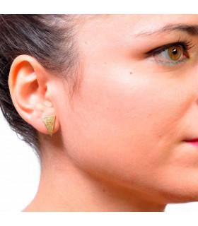 Offer in golden triangle earrings