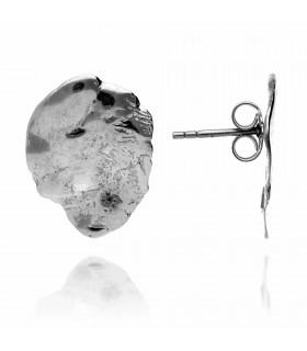 Paw circle earrings in silver