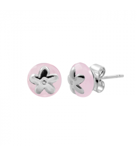 Jasmine silver rose quartz earring