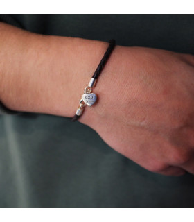 Valentine heart bracelet personalized