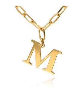 Collar letra personalizado chapado en oro