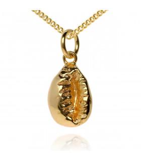 Golden shell pendant
