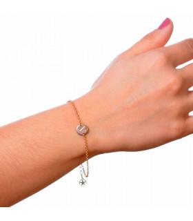 Compra pulsera personalizada dorada