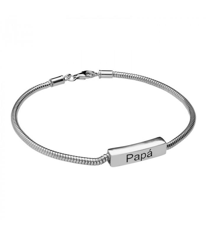 Silver Personalized Cubic Bracelet