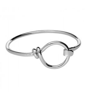 Men's circle bracelet in silver